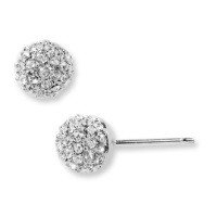 Nadri Small Paveball Stud Earrings - Silver